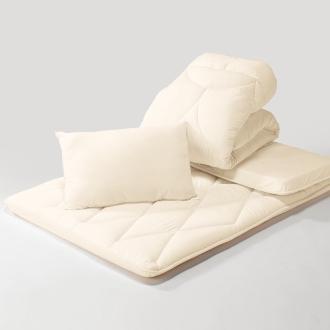 ディノス オンラインショップあったか洗える清潔寝具 お得な掛け布団+敷布団+枕 シングル3点セット