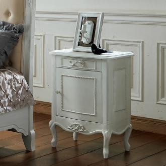 シャビーシック ホワイト フレンチ収納家具シリーズ サイドチェスト
