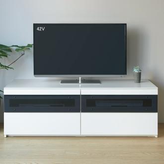 パモウナBW-140 輝く光沢のモダンリビングシリーズ テレビ台 幅140cm