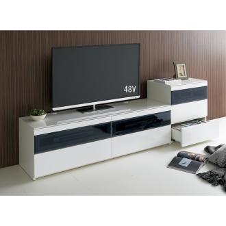 パモウナBW-160 輝く光沢のモダンリビングシリーズ テレビ台 幅160cm