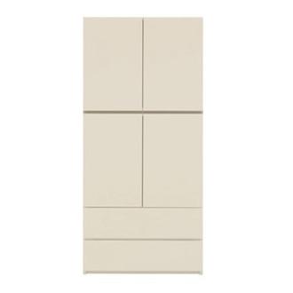 【パモウナ社製】毎日の使いやすさを考えた壁面収納システム 棚&引き出し収納庫 幅80cm