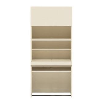 【パモウナ社製】毎日の使いやすさを考えた収納システム 収納棚付きパソコンデスク(机)幅80cm