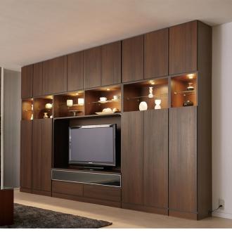 コレクションが輝く飾る壁面収納 テレビ台 幅155cm