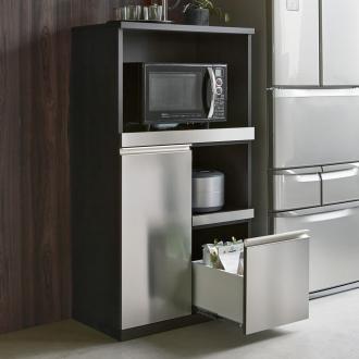 キッチンに合わせやすいシルバー収納庫シリーズ レンジ台 幅70cm