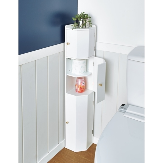 トイレコーナーラック 上部ゴミ箱付き 高さ100cm