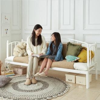 【シングル・フレームのみ】 昼間はソファにもできる横幅伸縮ベッド
