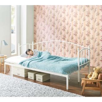 【セミダブル・専用ふとん付】 昼間はソファにもできる横幅伸縮ベッド