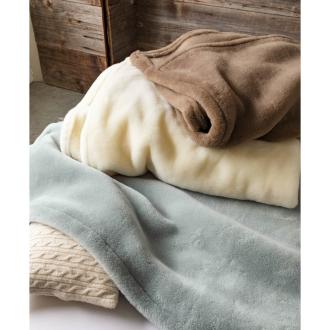 ディノス オンラインショップムートンと錯覚するほどなめらか肌ざわり ジロンウールニューマイヤー毛布 お得なシングル同色2枚組ホワイト