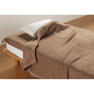 ディノス オンラインショップお得な掛け敷きセット ダブル(洗えるブラウンカシミヤ100%毛布)ブラウン
