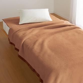 ディノス オンラインショップダブル (洗えるなめらかキャメル毛布 お得な掛け&敷きセット)ブラウン