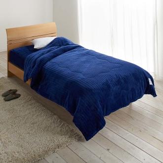 ディノス オンラインショップ暖かさと肌へのやさしさを考えたFUWARMシリーズ お得な毛布+敷きセット 毛布+シーツ型敷きパッド シングルライトグレー