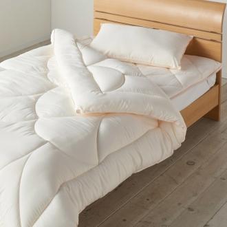 ディノス オンラインショップあったか洗える清潔寝具 お得な掛け布団+敷パッド+枕(ベッドセット) シングル3点セット