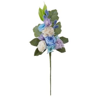 樹脂加工プリザーブド仏花 ブルー(花のみ) 大