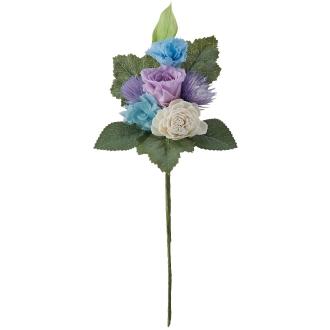 樹脂加工プリザーブド仏花 ブルー(花のみ) 小