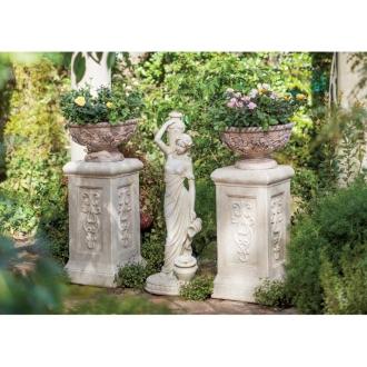 ロマンティック ガーデンオブジェ 水を運ぶ女