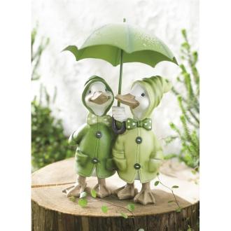 雨降りアヒルのオーナメント アヒルの兄弟
