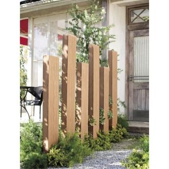人工木枕木 金具あり お得な3本組 高さ150cm
