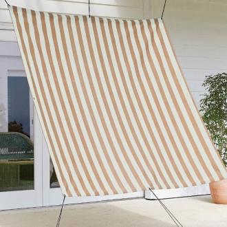 遮熱サンシェード ストライプ 180×180cm