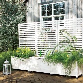 フェンス付ベンチ&プランターボックス 高さ160cm