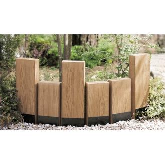 ディノス オンラインショップ人工木枕木 金具あり お得な3本組 高さ60cmナチュラル