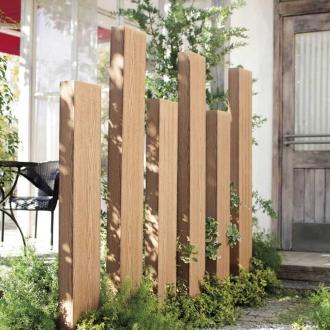 ディノス オンラインショップ人工木枕木 金具あり お得な3本組 高さ150cmナチュラル