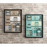 Brooklyn Design Poster frame �ʐ^