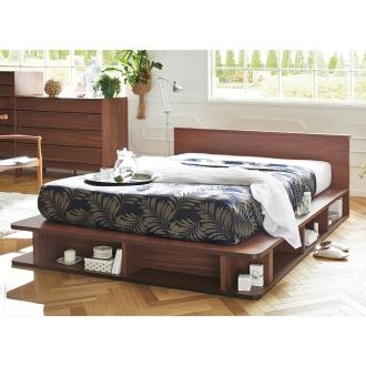 一人暮らしワンルームには引き出し付のベッドで北欧シンプルな部屋作り