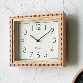 ミックスウッドデザインクロック デュナフ壁掛け時計