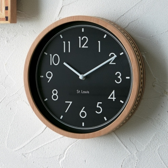 ミックスウッドデザインクロック コービッシュ壁掛け時計