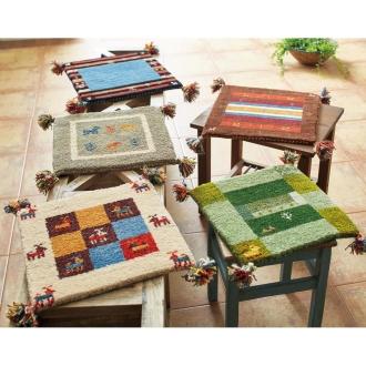 Gabbeh ギャベ インド製 ウールマット 約40×40cm