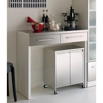 SmartII スマート2 ステンレス間仕切りオープンキッチンカウンター 幅90.5cm