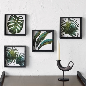 Botanical Art frame set of four
