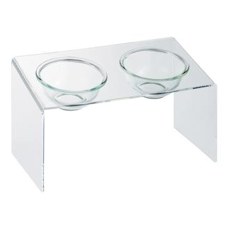 アクリル製ペットフードテーブル テーブル M