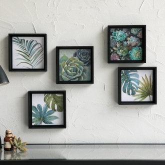 Botanical Art Frame Set of 5
