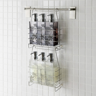 Stainless steel shampoo basket deals two sets