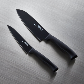 Super fluorine knife series deals Santoku & Petty knife set (Santoku kitchen knife + Petty knife)