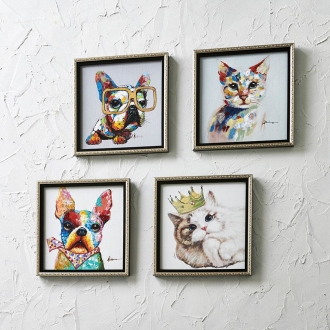 Cat & Dog Painting frame