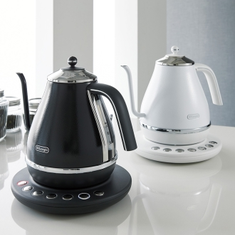 DeLonghi / DeLonghi Aikona temperature setting function with an electric kettle [KBOE1230J-W / KBOE1230J-GY]