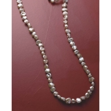 Champagne Beige  Pearl  Long necklace.