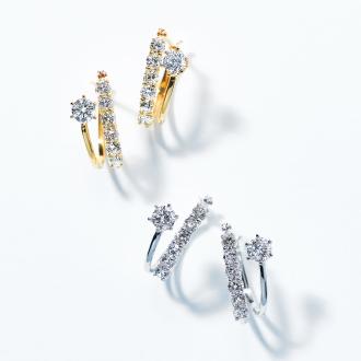 K18 1.0ct鑽石耳環雙