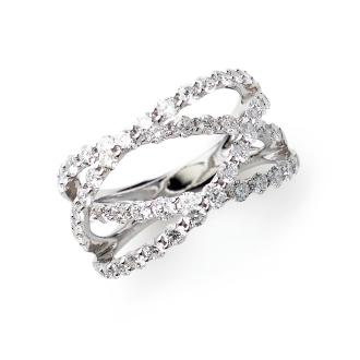 K18WG 2.1ct钻石戒指设计