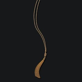 K18 rope tassel necklace