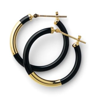 K18瑪瑙耳環