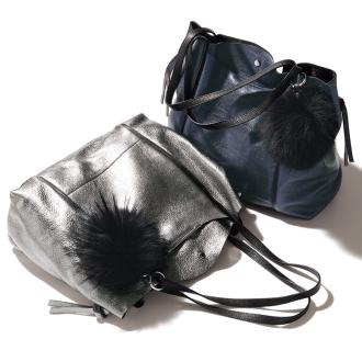 ARCADIA /阿卡迪亞金屬皮革手提包(意大利製造)