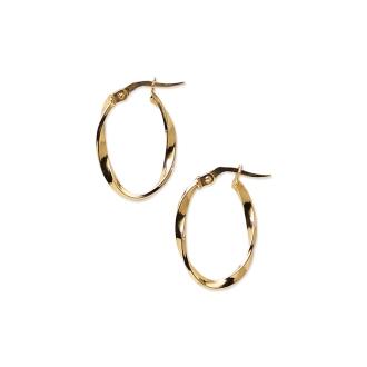 UNOAERRE / Unoaere K18 twist hoop earrings (made in Italy)