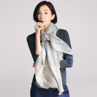 Worsted cashmere double weave gauze plaid stall