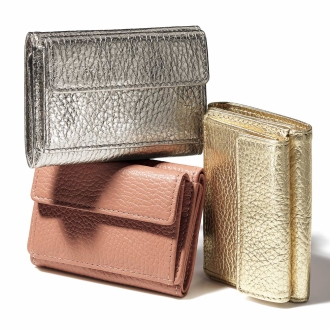 イタリアンレザー コンパクト 三つ折り財布