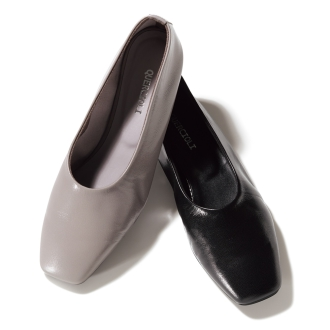 Soft leather flat pumps