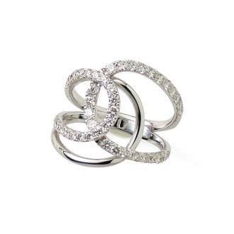 K18WG 1.0ct diamond design ring