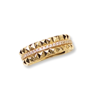 K18 0.18ct diamond design ring